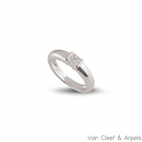 Van Cleef & Arpels White Gold Diamond Ring 0.24ct E/VVS+